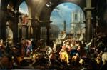 Angelo Trevisani - La cacciata dei mercanti dal tempio (1732)