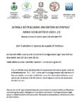 SCUOLA DI ITALIANO: INCONTRO DI POPOLI