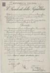 Decreto di concessione dello stemma e del gonfalone