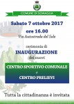 Inaugurazione nuovi Centro sportivo comunale e Centro prelievi
