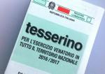 Rilascio dei tesserini venatori stagione 2019/2020